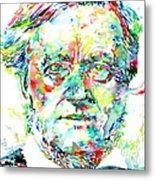 Richard Wagner Watercolor Portrait Metal Print