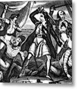 Richard Worley (c1686-1719) Metal Print