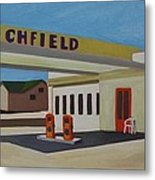 Richfield Gas Station Metal Print