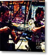 Rick And Daryl Clearing The Courtyard Metal Print