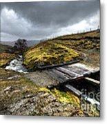Rickety Bridge On Honiston Pass  Metal Print