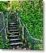 Rickety Stairs Metal Print