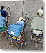 Rickshaw Driver - Bangkok Metal Print