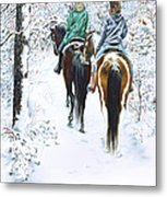 Ride Into Faerieland Metal Print
