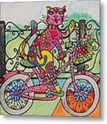 Ride Kitty Ride Metal Print by Carol Hamby