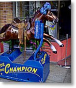 Ride The Champion Metal Print