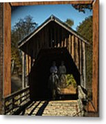 Riders From The Pass Metal Print