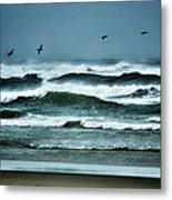 Riders On The Storm 1 - Outer Banks Metal Print by Dan Carmichael
