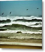 Riders On The Storm II - Outer Banks Metal Print by Dan Carmichael