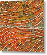 Ridges Encaustic Metal Print
