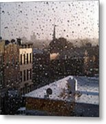 Ridgewood Wet With Rain Metal Print by Mieczyslaw Rudek Mietko