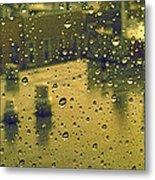 Ridgewood Wet With Rain St Matthias Roman Catholic Church Metal Print