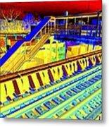 Ridin The Rails Metal Print