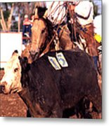 Riding And Roping Metal Print