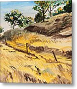 Riding By Back Road  Metal Print