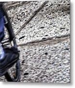 Riding On The Sidewalk Metal Print