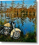 Riding The Mississippi Delta Metal Print