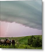 Riding The Storm Out Metal Print