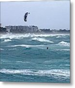 Riding Wind And Surf Metal Print