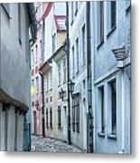 Riga Narrow Street Metal Print