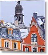 Riga Old Town Metal Print