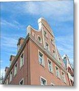 Riga Pink Building Metal Print