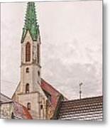 Riga St Johns Church Metal Print
