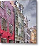 Riga Street Metal Print