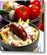 Rigatoni And Sausage Metal Print by Camille Lopez