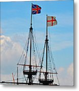 Rigging And Flags Metal Print