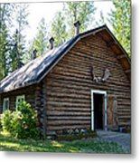 Rika's Barn In Big Delta Historical Park-ak  Metal Print