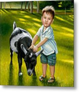 Riley At The Petty Zoo Metal Print