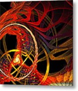 Ring Of Fire Metal Print by Andee Design
