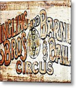 Ringling Brothers And Barnum And Bailey Circus Metal Print
