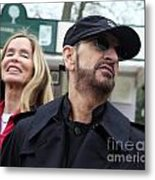 Ringo Starr And Barbara Bach Metal Print