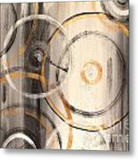 Rings Of Gold Abstract Painting Metal Print