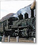 Rio Grande Railway Baldwin Built In 1903 No. 464 Circa 1955 Metal Print