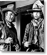 Rio Lobo, From Left, John Wayne, George Metal Print
