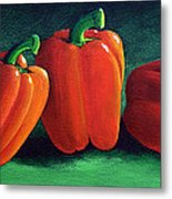 Ripe Red Peppers Metal Print