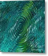 Ripple Sea Glass  Metal Print