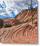 Rippled Rock At Zion National Park Metal Print