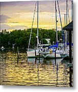 Ripples At Sunset Metal Print by Brian Wallace