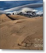 Ripples Dunes And Clouds Metal Print