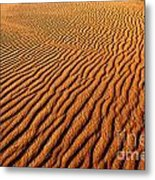 Ripple Patterns In The Sand 1 Metal Print