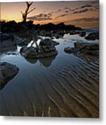 Ripples In The Sand Metal Print by Mark Leader