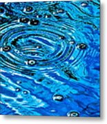 Ripples Of A Bubble Bursting Metal Print