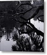 Ripples Of Black And White Metal Print