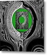Ripples Of The Green Metal Print