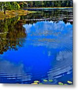 Ripples On Fly Pond - Old Forge New York Metal Print