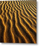 Ripples Oregon Dunes National Recreation Area Metal Print